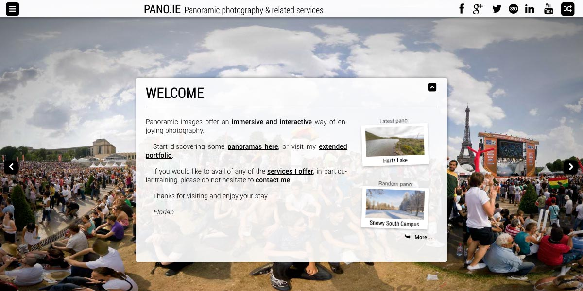 pano ie | Welcome
